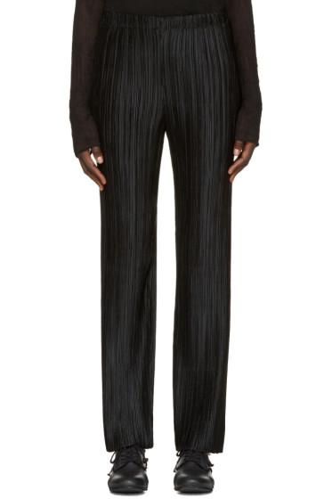 Issey Miyake - Black Pleated Trousers