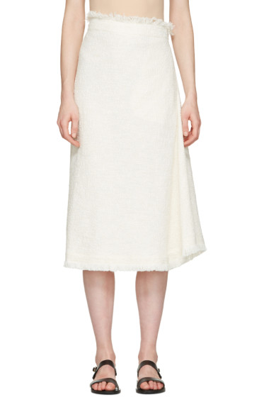 Nehera - Off-White Asymmetric Skirt