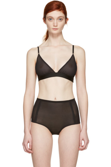Land of Women - Black Mesh Triangle Bra