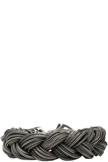 Emanuele Bicocchi - Silver Big Braid Bracelet