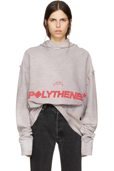 A-Cold-Wall* - Reversible Grey Logo Polythene Hoodie