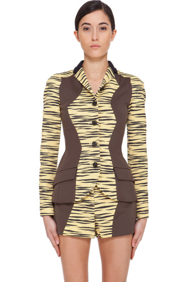 Proenza Schouler - Yellow Tiger Print Jacket