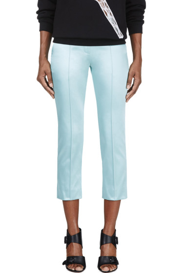Roksanda - Mint Green Pleated Cropped Trouser