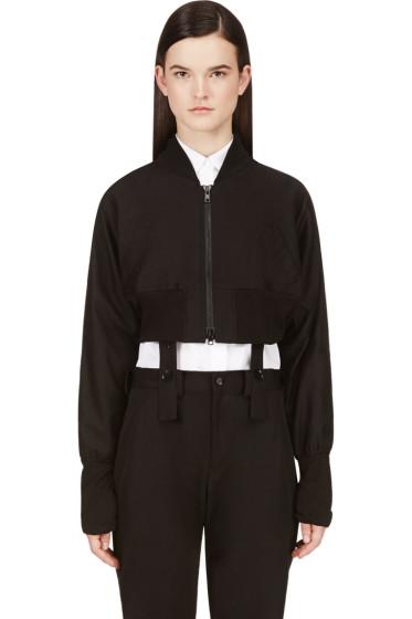 Yohji Yamamoto - Black Dolman Sleeve Gather Jacket