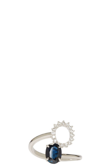 Maison Margiela Fine Jewellery - White Gold Deconstructed Pompadour Ring
