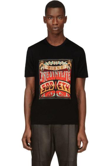 Juun.J - Black Poster Graphic T-Shirt