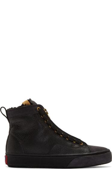 Visvim - Black Leather Skagway Hi-Folk Sneakers