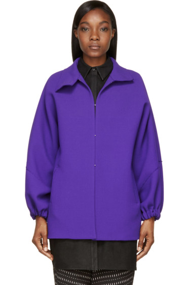Costume National - Purple Wool Crepe Jacket