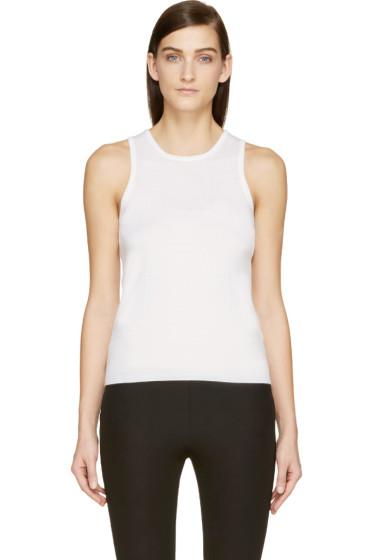 Maison Margiela - Ivory Cashmere Sleeveless Sweater