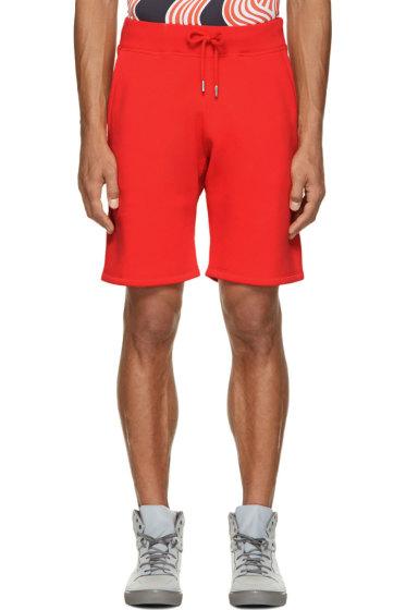 Christopher Kane - Red Fleecy Shorts