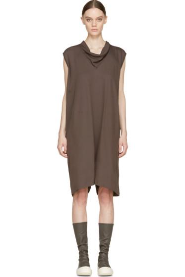 Rick Owens - Grey Cowled Bodybag Short Jumpsuit