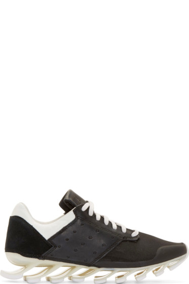 Rick Owens - Black & White adidas by Rick Owens Blade Low Sneakers