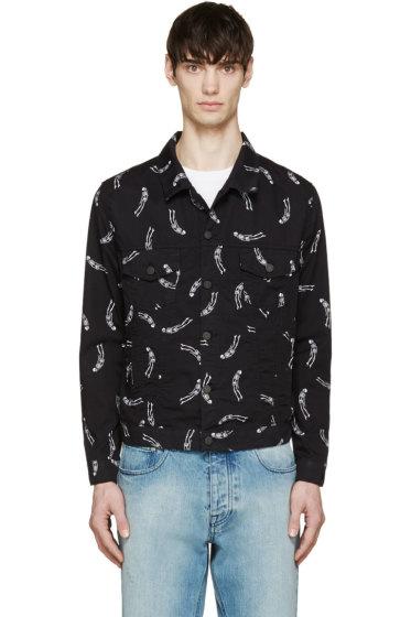 Surface to Air - Black Skeleton Print Ed Jacket