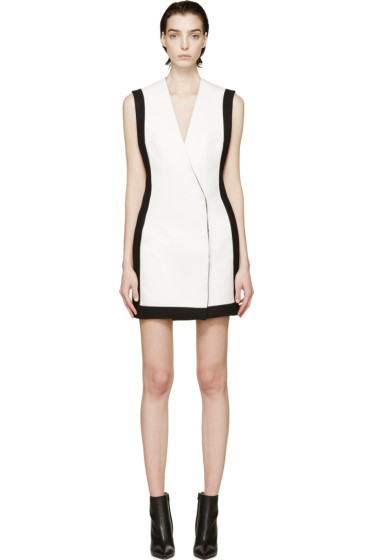 Balmain - White Double-Breasted Dress