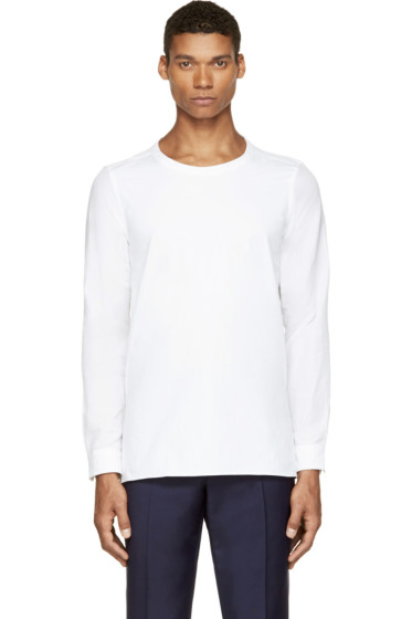 Paul Smith - White Cotton & Linen Smock Shirt