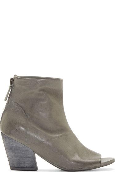 Marsèll - Grey Peep Toe Ankle Boots