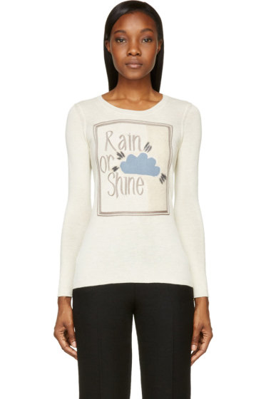Burberry Prorsum - Ecru Alpaca Rain Or Shine Book Cover Sweater