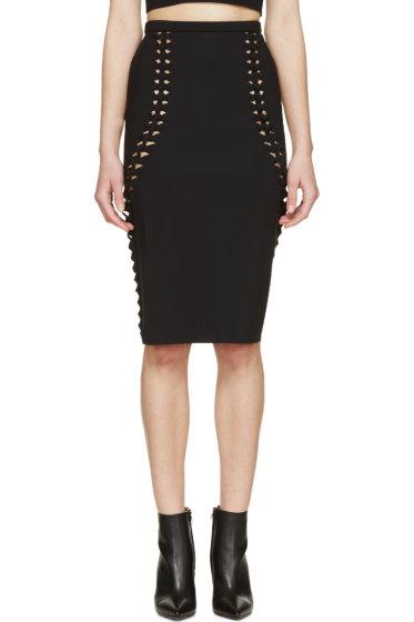 Dion Lee - Black Woven Trim Skirt