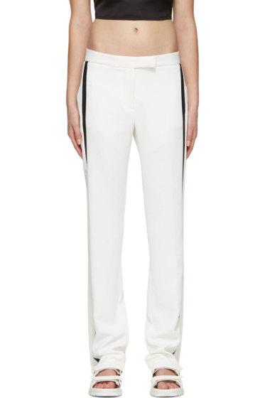 Dion Lee - Ivory & Black Linear Loop Trousers