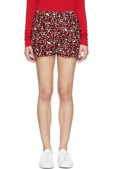 Stella McCartney - Scarlet Silk Animal Spot Shorts