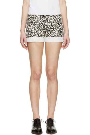 Stella McCartney - Beige & Black Animal Spot Shorts