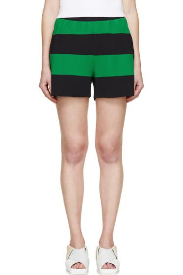 Stella McCartney - Green & Black Striped Knit Shorts