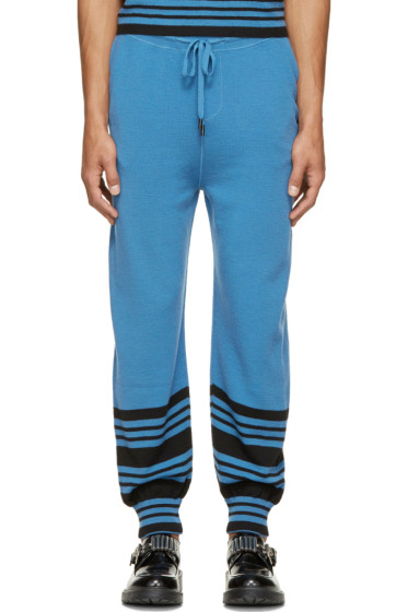J.W.Anderson - Blue Merino Wool Striped Show Tracksuit Pants