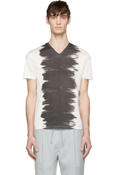 Calvin Klein Collection - White & Black Watercolour T-Shirt