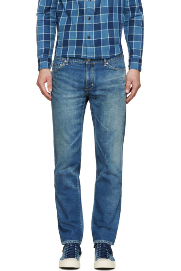Visvim - Blue Damaged 04 Social Sculpture Jeans