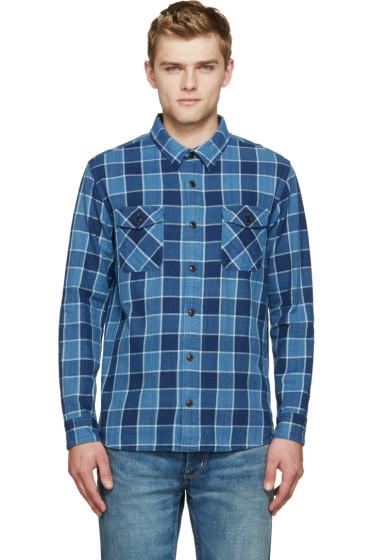 Visvim - Indigo Check Elk Shirt