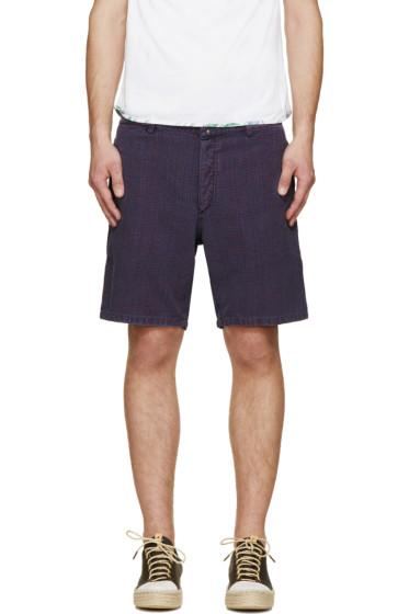 Visvim - Blue & Red Linen Pastoral Shorts