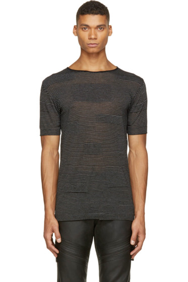 Costume National - Black Alternating Knit T-Shirt