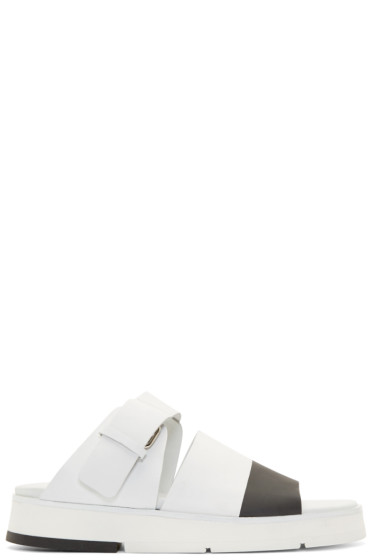 Cinzia Araia - White & Black Stripe Sandals