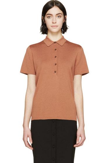 Burberry London - Orange Knit Polo Shirt