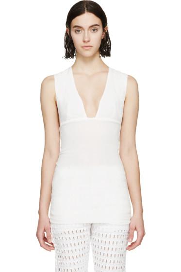 Isabel Marant - White Cotton Gauze Garron Top