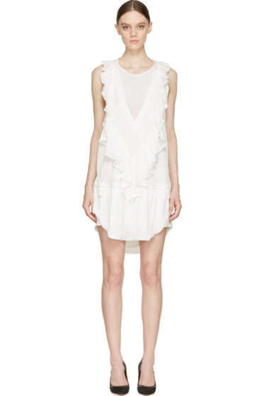 Isabel Marant - White Modern Ruffled Rafael Dress