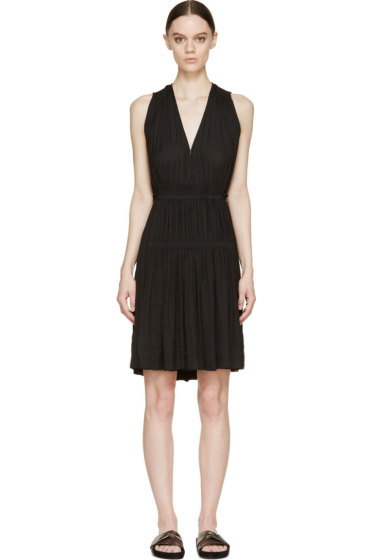 Isabel Marant - Black Gathered & Draping Adara Dress