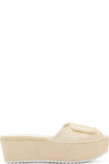 Amélie Pichard - Ecru Platform Guy Sandals