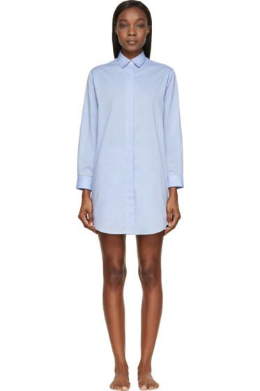 Raphaëlla Riboud - Blue Cotton & Lace Marilyn Night Shirt