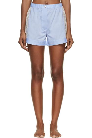 Raphaëlla Riboud - Blue Cotton & Lace Fred Shorts