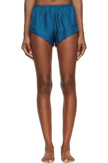 Raphaëlla Riboud - Blue Silk Twill Yves Shorts