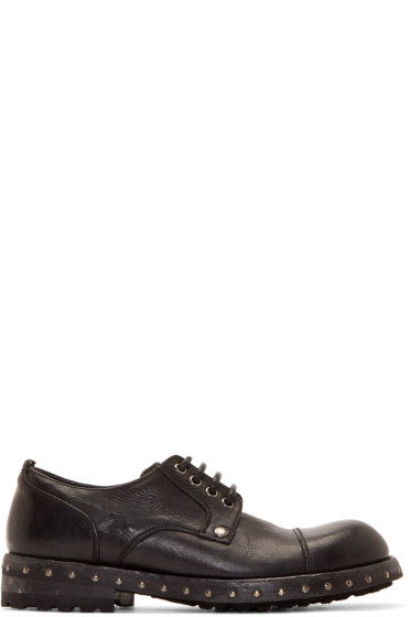 Dolce & Gabbana - Black Heavy Derby Shoes