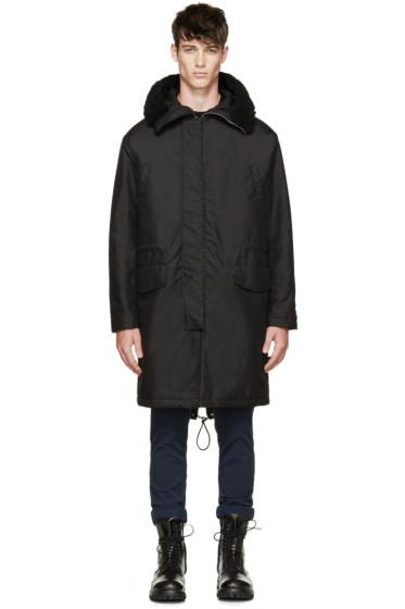 McQ Alexander Mcqueen - Black Shearling Coat