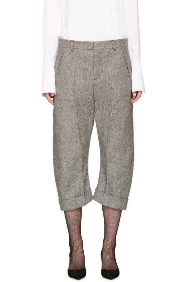 Dsquared2 - Grey Cropped Tweed Kawaii Trousers