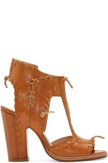 Maison Margiela - Tan Leather Stitch Sandals