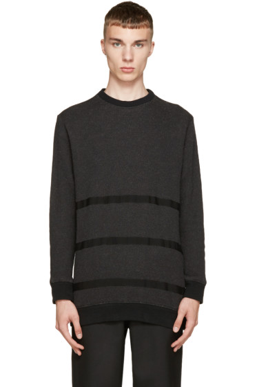 Robert Geller - Charcoal & Grey Taped Sweater