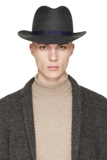 Robert Geller - Grey Julius Fedora Hat