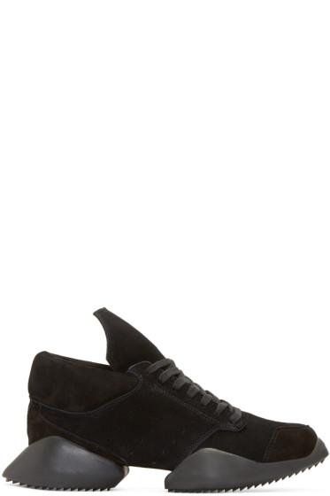 Rick Owens - Black Suede Island Sole adidas by Rick Owens Sneakers
