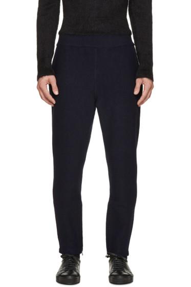 Jil Sander - Navy Wool Knit Lounge Pants