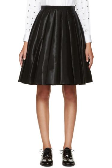 Junya Watanabe - Black Satin Pleated Skirt
